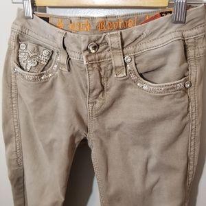 Rock Revival Jeans - Rock Revival Boris Khaki Ankle Skinny Jeans